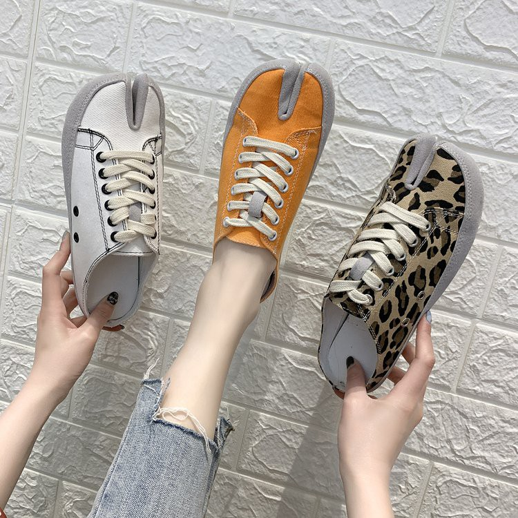Ins Korea new women's shoes with canvas student casual shoes wearing semi-slip s