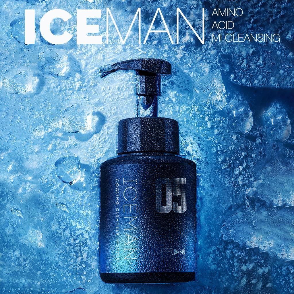 Sữa Rửa Mặt IceMan Tạo Bọt Siêu Mịn BLUEMAN Rửa Sạch Bụi Bẩn Siêu Nhanh 180ml ZL56
