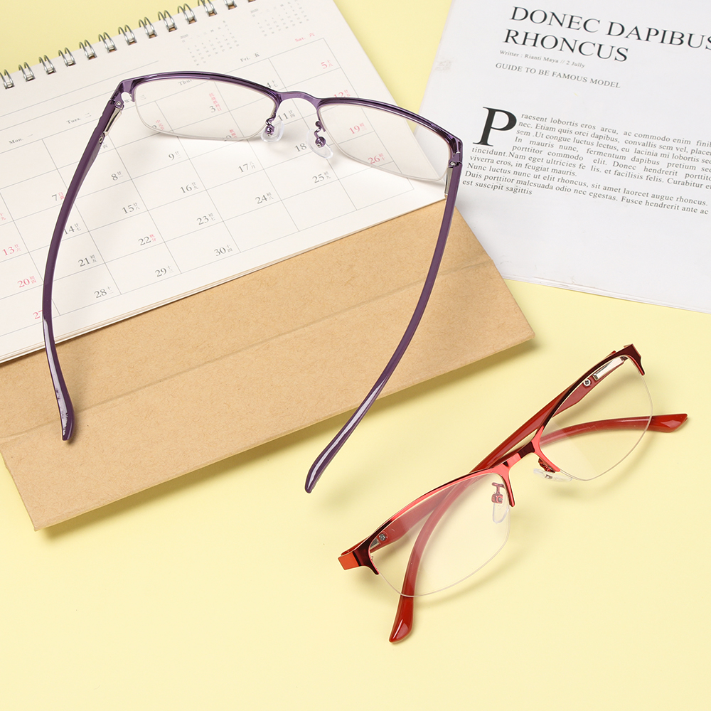 EMILEE💋 New Reading Glasses Business Clear Lens Hyperopia Eyewear Soft Diopter Fashion Women&Men High Quality Presbyopia Eyeglasses/Multicolor