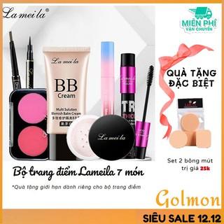 Bộ makeup nữ đầy đủ Lameila 7 món kem nền, phấn phủ, phấn má, kẻ mày, kẻ mắt, mascara, son kem lì BTD-L710 thumbnail