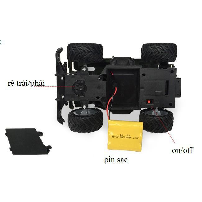 [BIG SALE]Xe jeep off-road leo núi điều khiển từ xa (254)