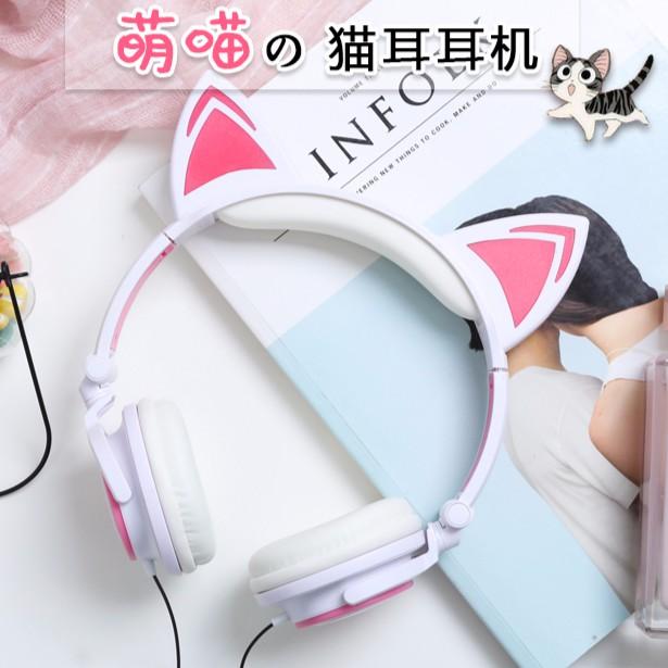 Tai nghe tai mèo TTLIFE xinh xắn có led, chất lượng cao. bảo hành 3 tháng