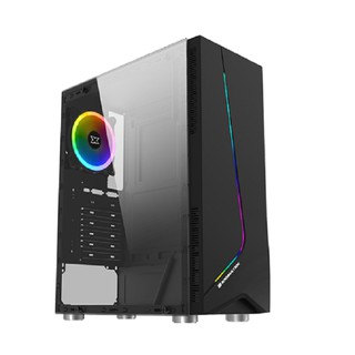 Vỏ máy tính Xigmatek EROS – ATX, Dải led RGB, Mặt hông kính cường lực – Hàng chính hãng ( chưa có fan quạt sau)
