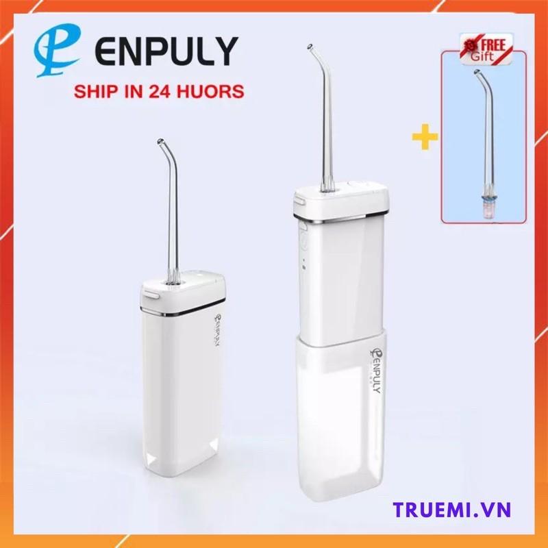Máy tăm nước mini Xiaomi Enpuly, dung tích 130 ml, pin 1100 Mah, nhỏ gọn di động