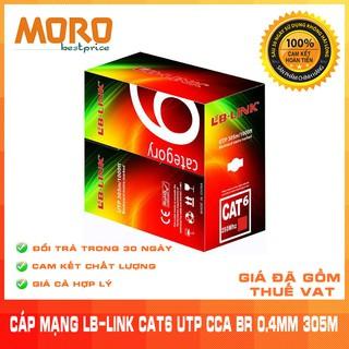 [Mã ELMS05 giảm 5% đơn 300K] Cuộn dây cáp mạng LB-LINK Cat6 UTP CCA BR 0.4mm (305m) - Chính hãng