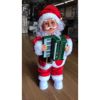 Ông già Noel chơi đàn; đồ chơi giáng sinh Ông già Noen múa hát.