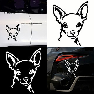 MalCute Chihuahua Dog Car Vehicle Motorcycle Reflective Decals Sticker Decoration