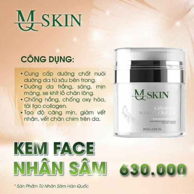 Kem Face Nhân Sâm MQ Skin (chính hãng 100%) Cam Kết | Shopee Việt Nam