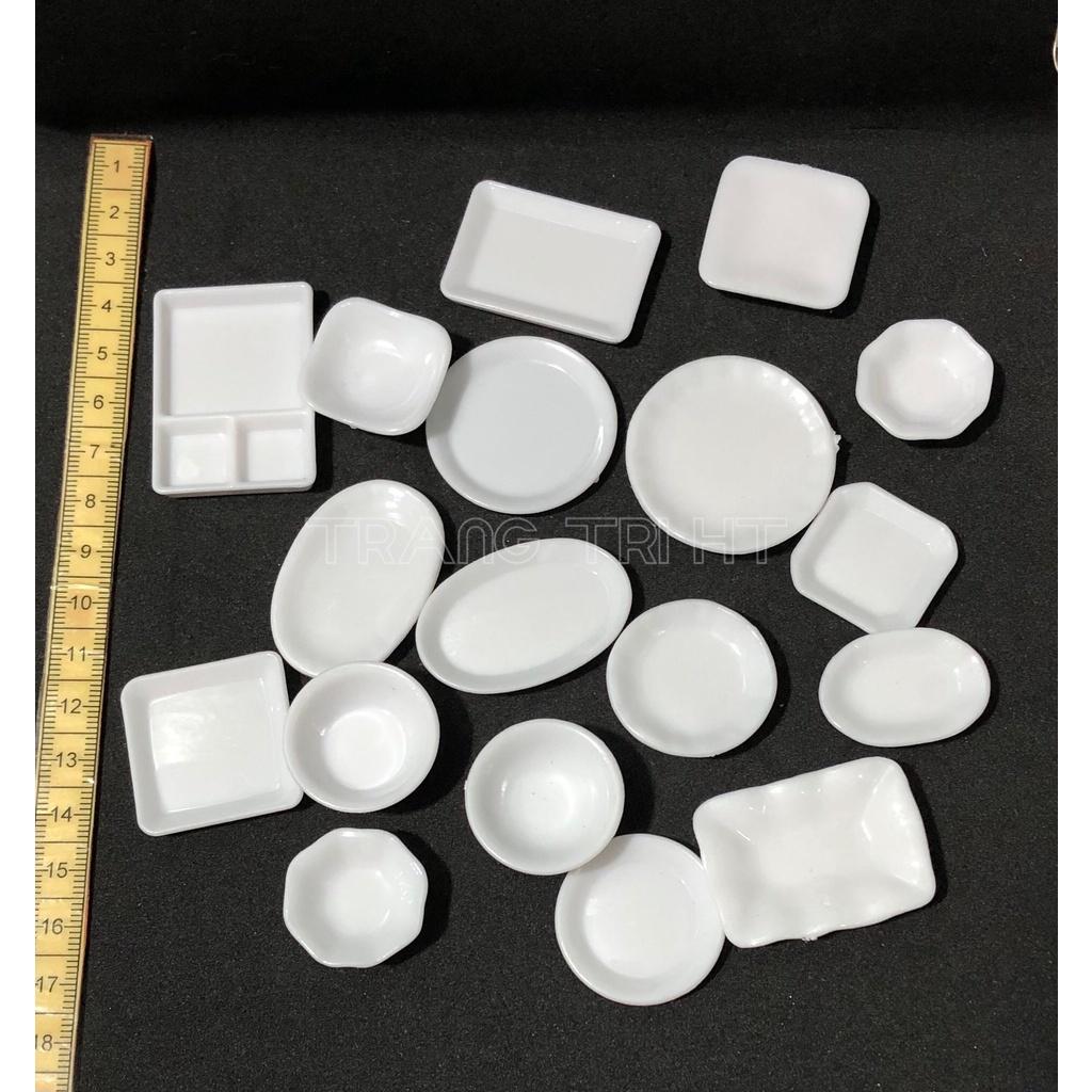 Mô hình chén đĩa đồ chơi trang trí nhà búp bê [1 cái]