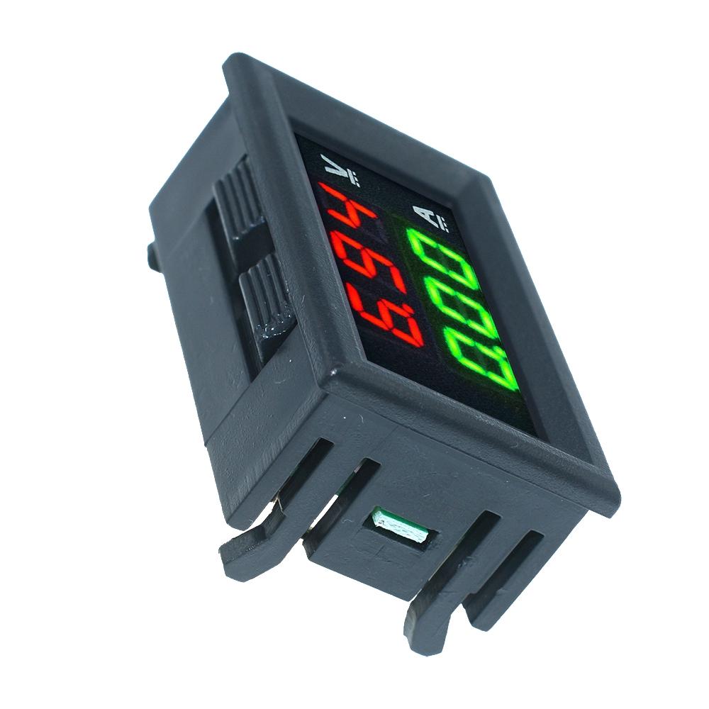 Vôn kế tích hợp Ampe kế DC 100V 10A hiển thị màn hình đèn LED kỹ thuật số