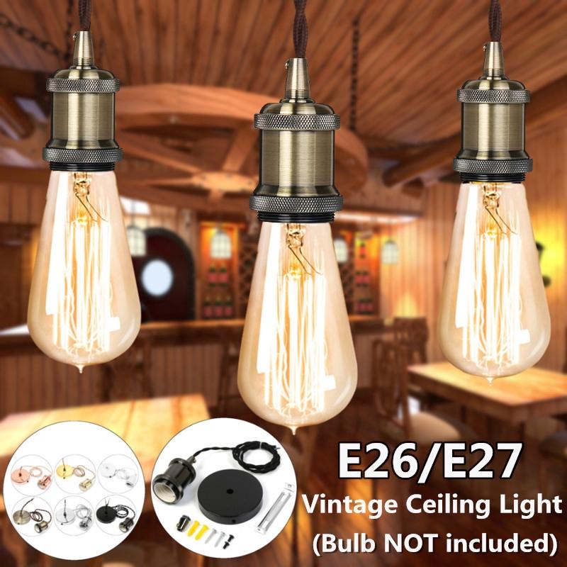 Dây đèn treo trần trang trí phong cách vintage