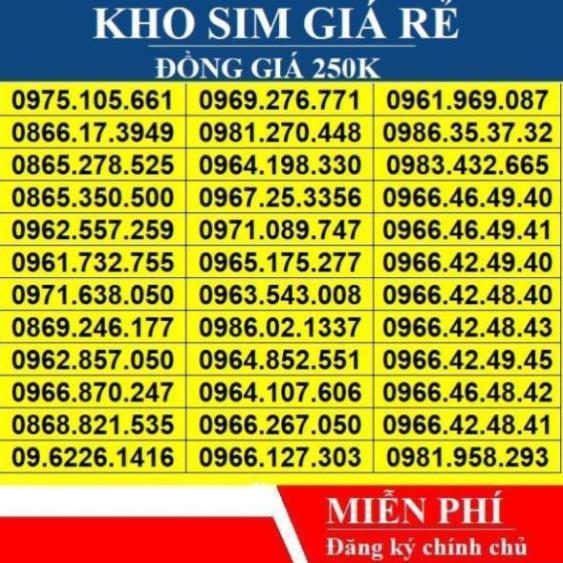 [Sim Số Đẹp] Viettel 4G Trả Trước Giá Rẻ - Sim viettel đầu 09 - 23059270 , 4407903696 , 322_4407903696 , 399000 , Sim-So-Dep-Viettel-4G-Tra-Truoc-Gia-Re-Sim-viettel-dau-09-322_4407903696 , shopee.vn , [Sim Số Đẹp] Viettel 4G Trả Trước Giá Rẻ - Sim viettel đầu 09