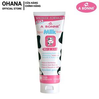 Muối Tắm Sữa Bò Spa A Bonne Làm Trắng Da, Tẩy Tế Bào Chết A Bonne Spa Milk Salt Shower Formula 350g (Tuýp)