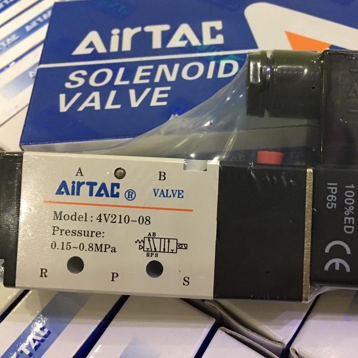Van Điện Từ Khí Nén AIRTAC 4V210-08 (Van Khí Nén 5/2, Ren 13mm) (Hàng tốt có bảo