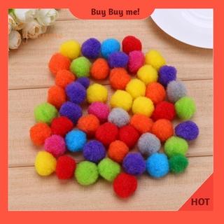 Set 50/100/500 quả bóng lông xù nhiều màu sắc trang trí dễ thương