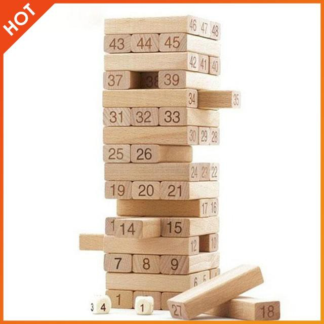 Bộ đồ chơi rút gỗ 48 thanh to   HÀNG MỚI