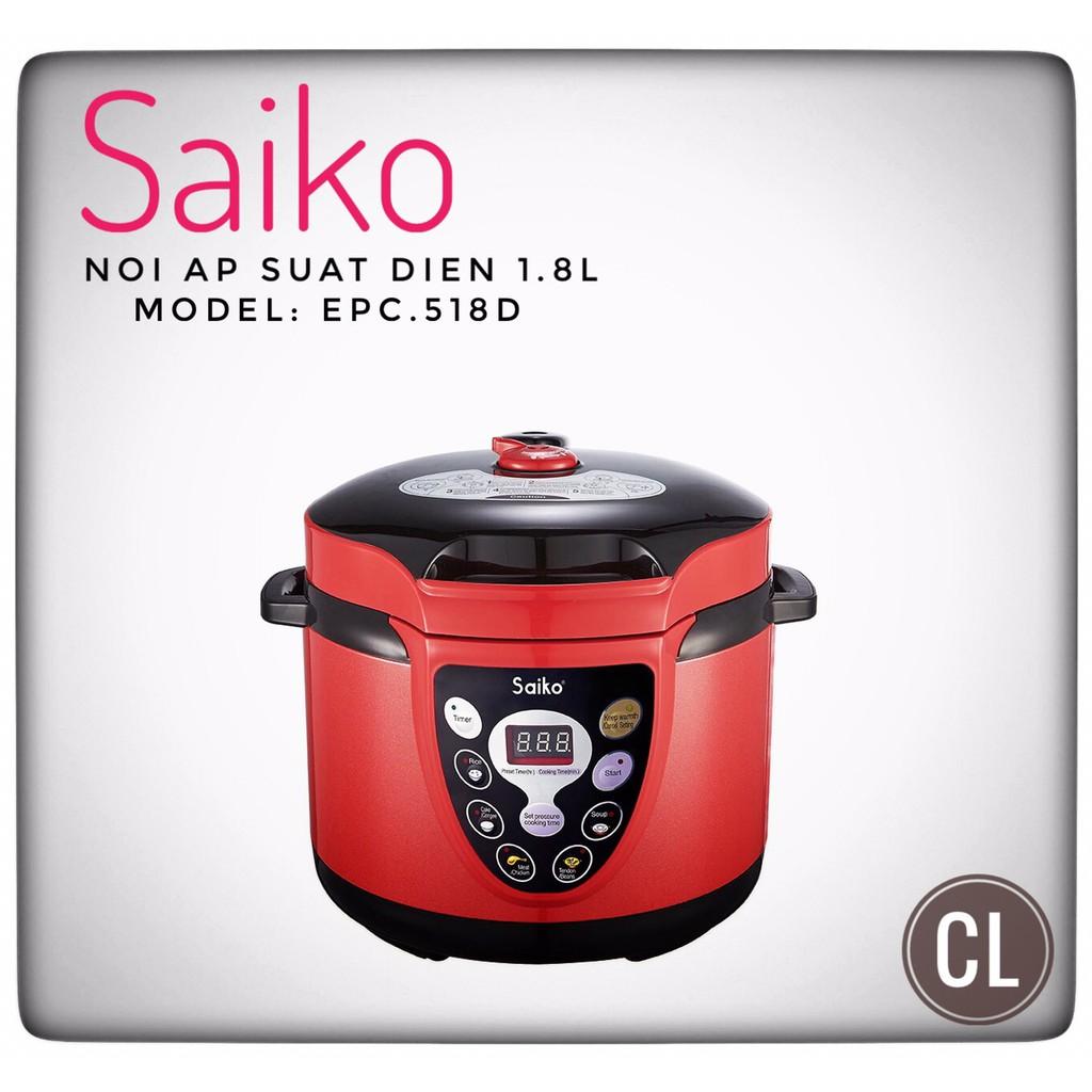 Nồi áp suất điện Saiko EPC 518D 1,8L - 3338437 , 745130001 , 322_745130001 , 1350000 , Noi-ap-suat-dien-Saiko-EPC-518D-18L-322_745130001 , shopee.vn , Nồi áp suất điện Saiko EPC 518D 1,8L