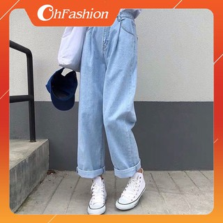 FS50K_Quần Jeans Nữ Ống Rộng SIMPLE JEANS Cao Cấp OHS3010