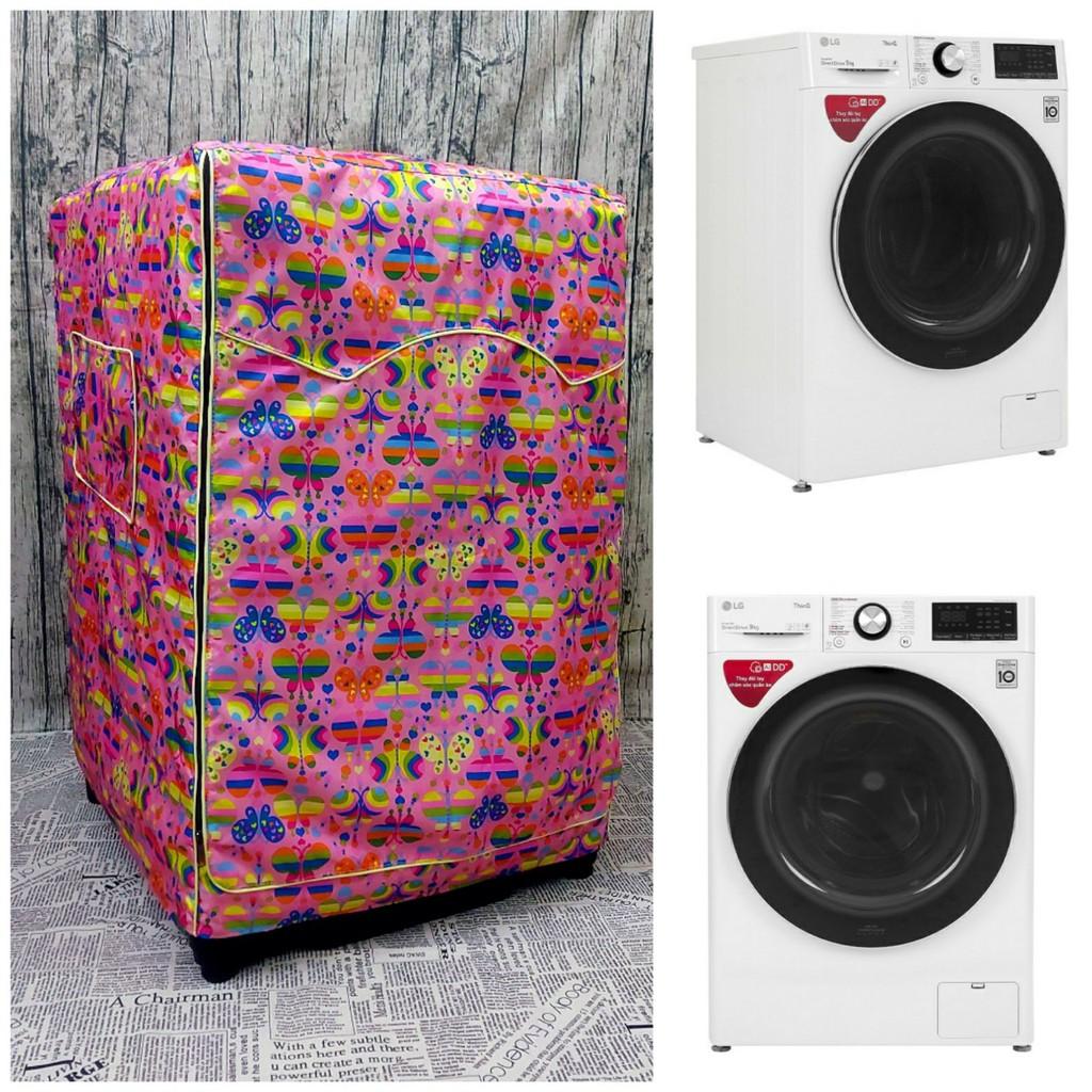 Vải dù xịn không nổ vỏ] Áo Trùm Máy Giặt Cửa Trước trùm cho Máy sấy bơm  nhiệt Samsung Inverter 9 Kg