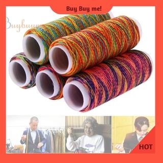 Set 5 cuộn chỉ khâu vá đa dụng màu sắc cầu vồng ấn tượng chất lượng cao