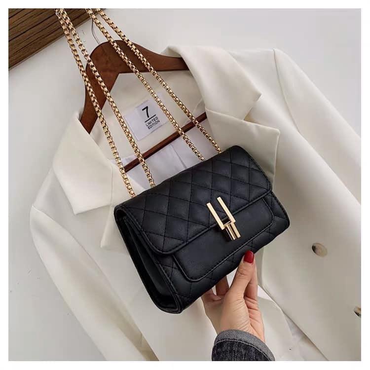 Túi đeo chéo nữ trần trám bút chì BH 417