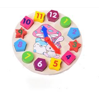 Kagonk Đồ chơi đồng hồ gỗ cho bé - Giúp bé biết cách xem giờ, làm quen với thời gian - Tăng khả năng tư duy cho trẻ thumbnail