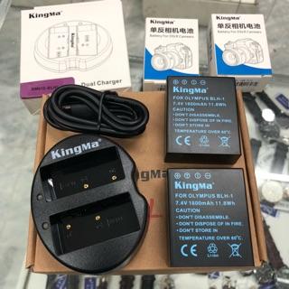 Bộ Pin + Sạc BLH1 dành cho máy Olympus EM1ii - hiệu Kingma bảo hành 12 tháng 1 đổi 1 thumbnail