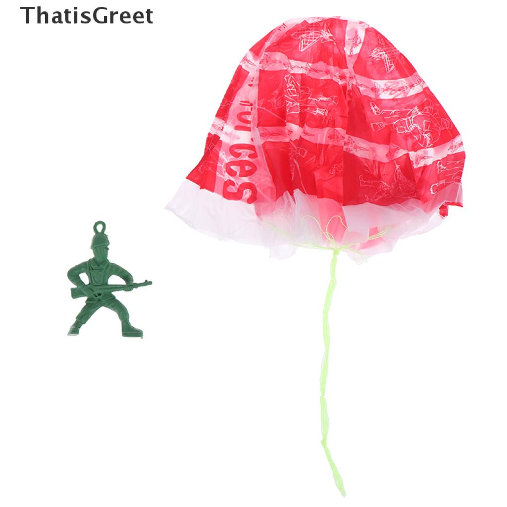 (thsgrt) 2Pcs Hand Throwing Kids Play Parachute Toy Soldier Outdoor Sports Children Toy [HOT SALE]