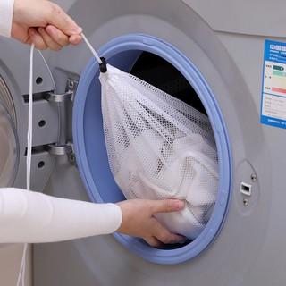 Bộ 3 túi giặt dây rút túi vải lưới lỗ to chuyên giặt đồ lớn giặt đồ thông minh tiện lợi Chammart