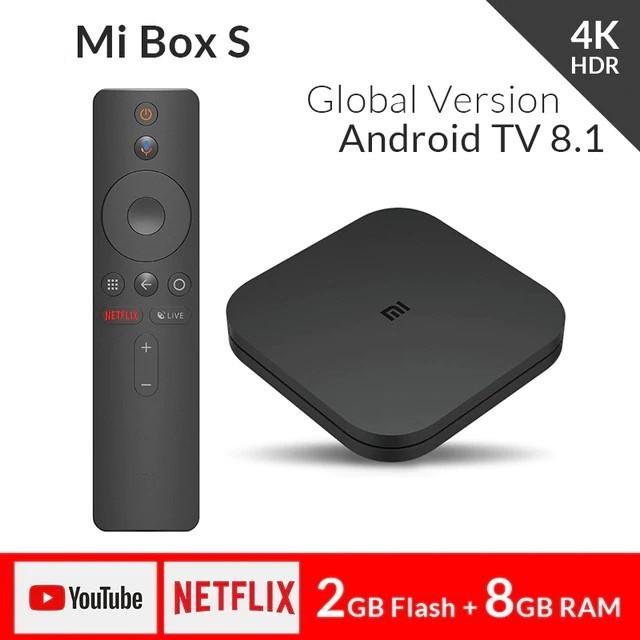 Android Tivi Box Xiaomi Mibox S 4K Global (Android 8.1) - Hàng chính hãng DGW - Bảo hành 12 tháng