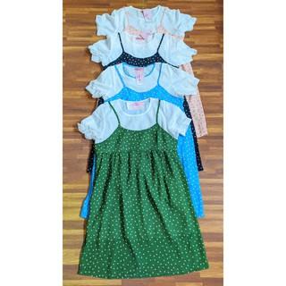 [Size 45-60kg] Váy bầu giả yếm chấm bi 2 lớp HT V-205
