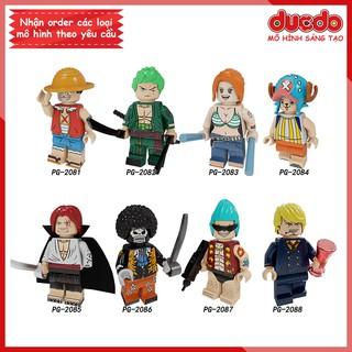 Minifigures các nhân vật trong Đảo hải tặc One Piece - Đồ chơi Lắp ghép Xếp hình Mô hình Mini Luffy, Zoro POGO PG8244 thumbnail