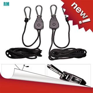 [ Hàng Hot ] Bộ 2 dây thừng 1 / 8 Có thể điều chỉnh độ dài dùng để treo đèn hỗ trợ trồng cây tiện dụng