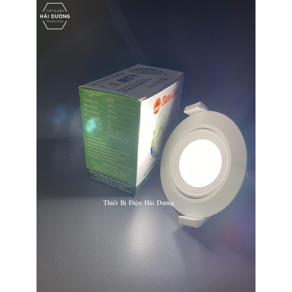 ĐÈN LED ÂM TRẦN DOWNLIGHT RẠNG ĐÔNG 4.5W THAY ĐỔI ĐƯỢC GÓC CHIẾU MODEL D AT02L XG 76/4.5W - Bảo hành 2 năm