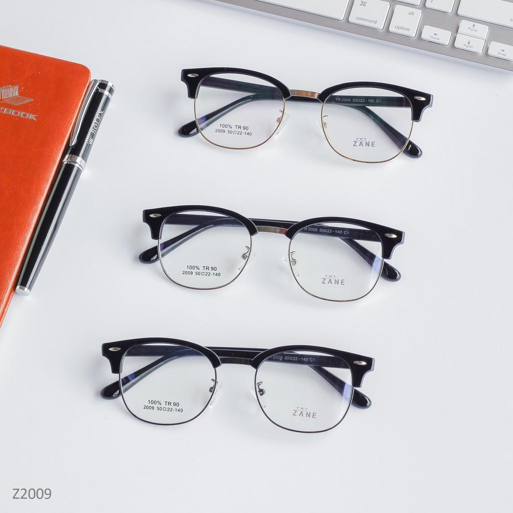 [LẮP SẴN CẬN] – Gọng kính cận nam, Mắt kính nam CLUBMASTER, kính mắt vuông Z2009