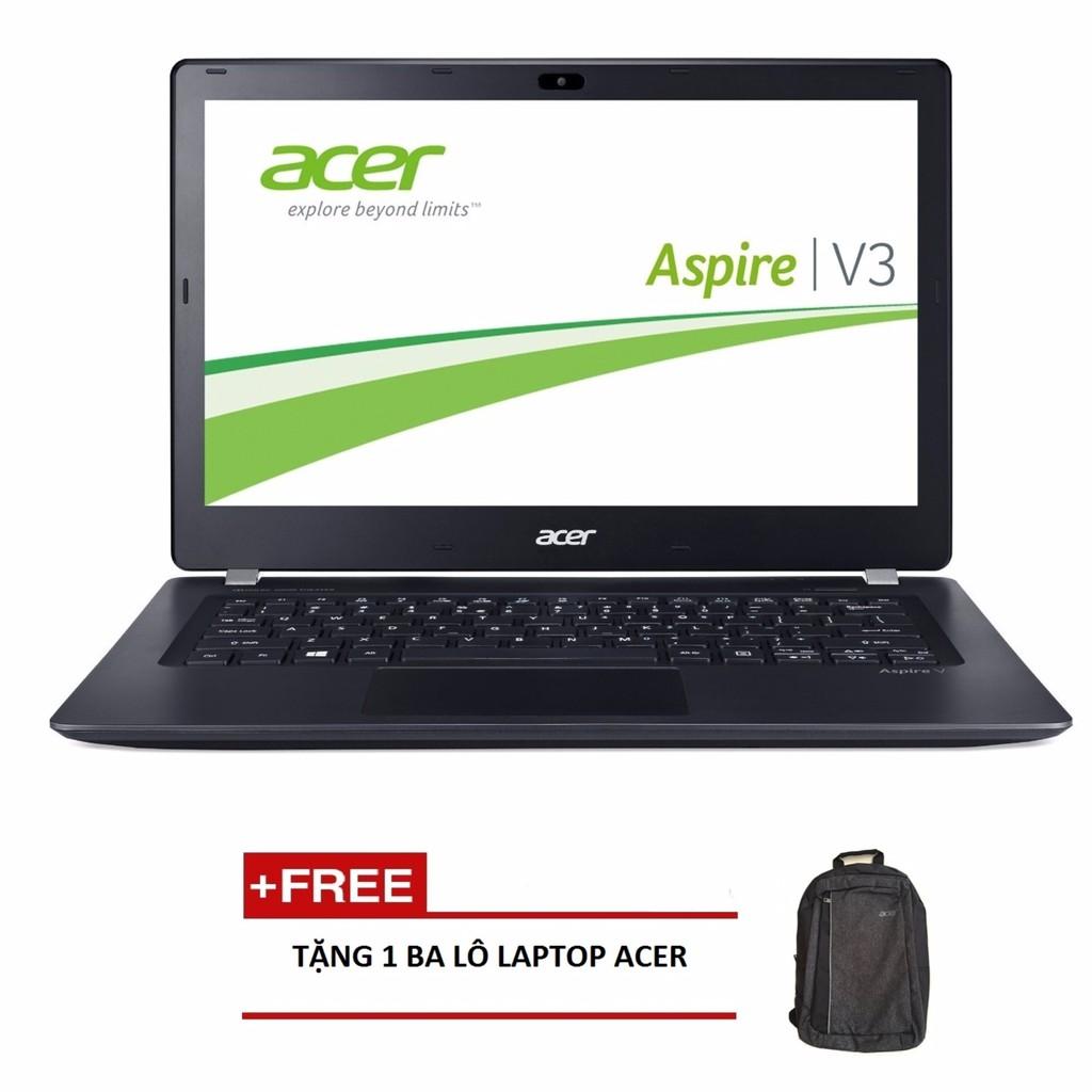 """Laptop Acer Aspire V3-371-560K NX.MPGSV.021 i5-5200U/4G/500G/13.3"""" (Xám) + Tặng 1balo laptop ACER"""