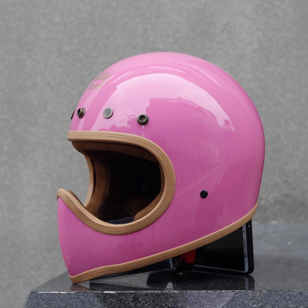 [Thanh lý]Nón bảo hiểm Royal M140 hồng(Tặng lưỡi trai)