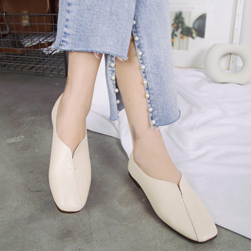 Giày Bệt Thời Trang Nữ, Giày Đế Bằng Chống Trượt (Mũi Vuông, TPR)