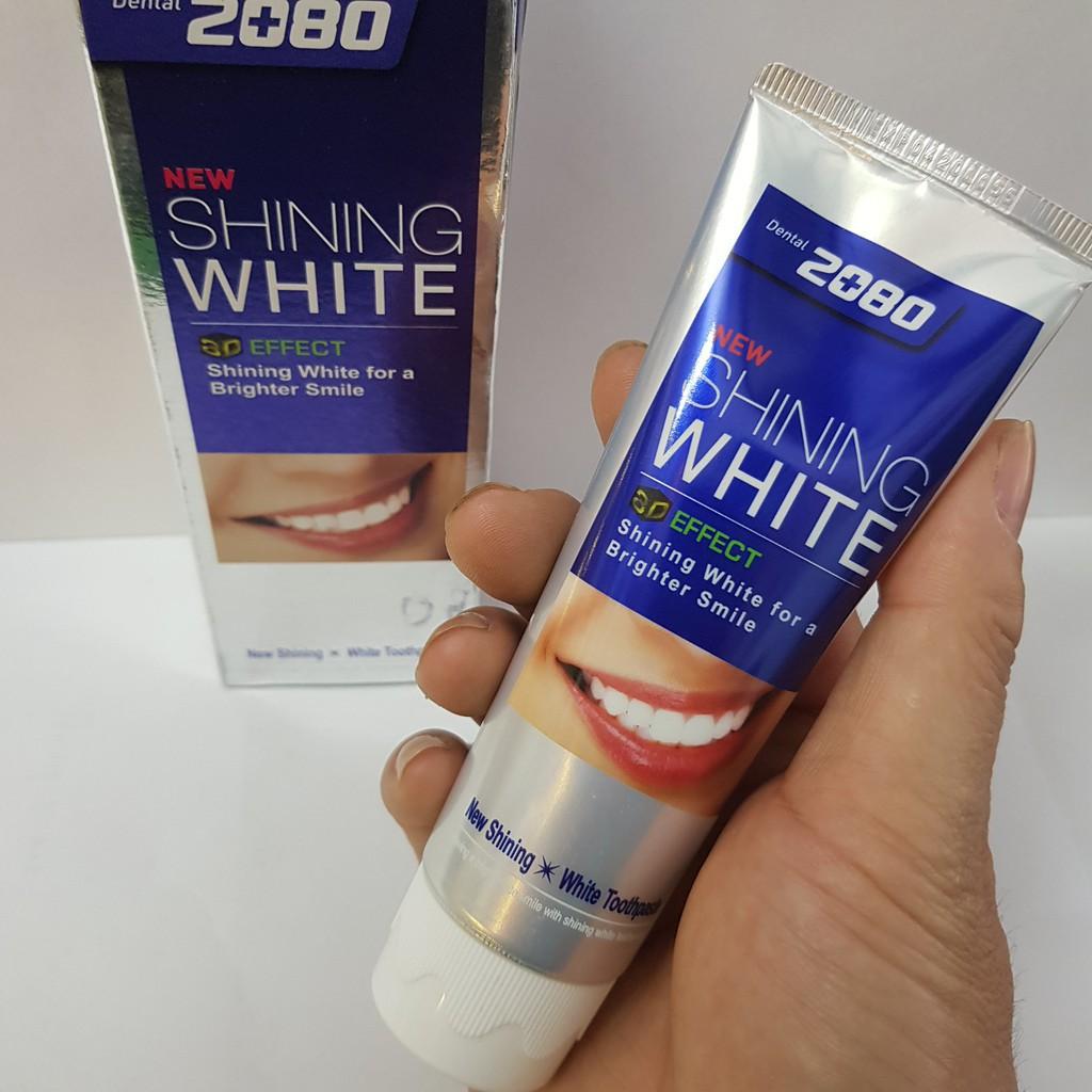 Kem đánh răng tẩy sạch vết ố trên răng 2080 Shining White 3D Effect Hàn Quốc 100g - 2201701