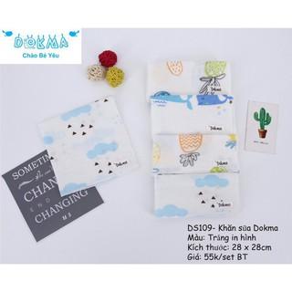Set 5 khăn sữa xô Dokma (Kích thước 28x28cm)