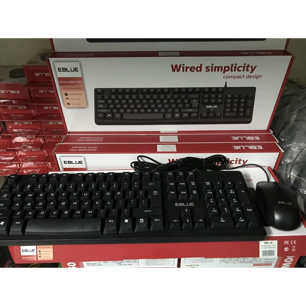 Bộ phím chuột dây EBlu EKM045BK-EMS645BK Giá chỉ 200.200₫