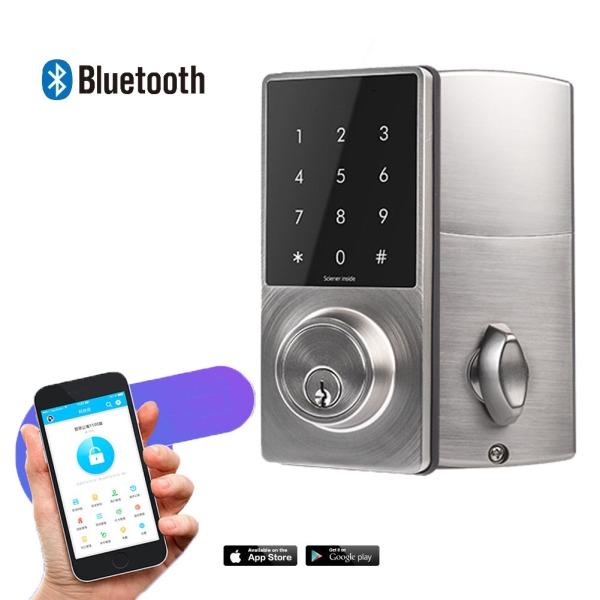 APP  Remote Monitor Smart Lock Bluetooth, Touchscreen Deadbolt Safe-guard Door Lock