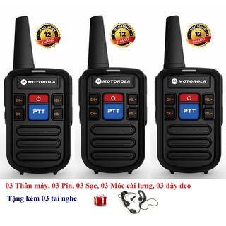 [Mã ELMSBC giảm 8% đơn 300K] Bộ 3 Bộ đàm siêu nhỏ chất lượng khủng Motorola GP800 (2 Phím bấm PTT)