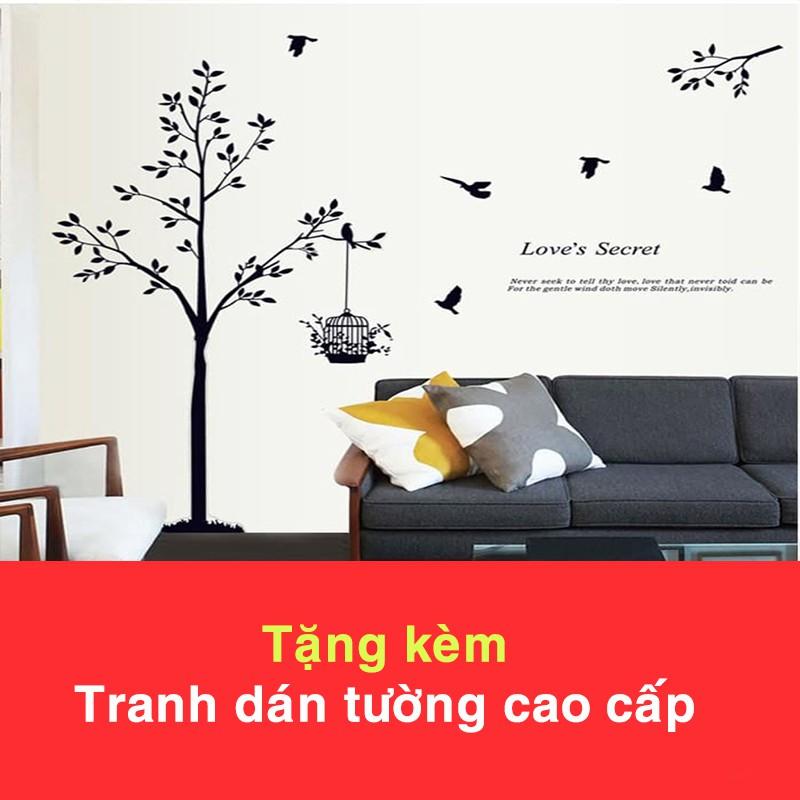 Đồng Hồ Treo Tường Hiện Đại 952 (Tặng Decal Cây và Chim T15)