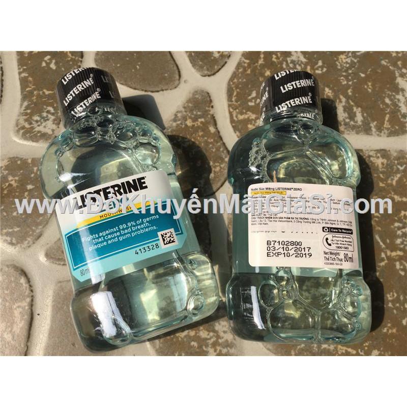 Nước súc miệng Listerine Zero 80ml (không cay) - Date 2019.
