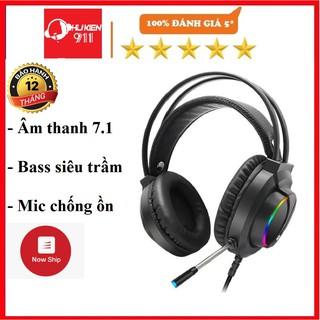 Tai nghe chụp tai game thủ có dây, dành cho máy tính, gaming Tuner 7.1 âm thanh vòm,có mic, Led, chính hãng BH 1 năm.