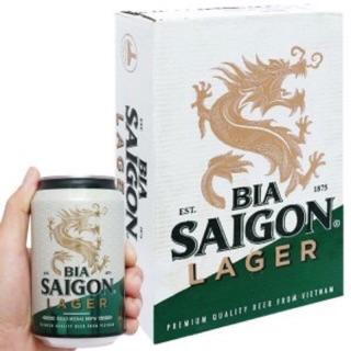 (Date:13/01/2022) Bia Sài Gòn Lager thùng 24 lon