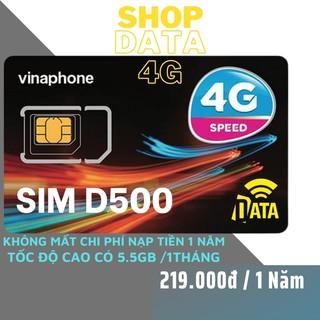 SIM4G D500 Vinaphone ( Miễn phí 1 năm vào mạng 4G Tốc Độ Cao ) Có Video kèm test Tốc Độ Cao , Bảo Hành 12 Tháng