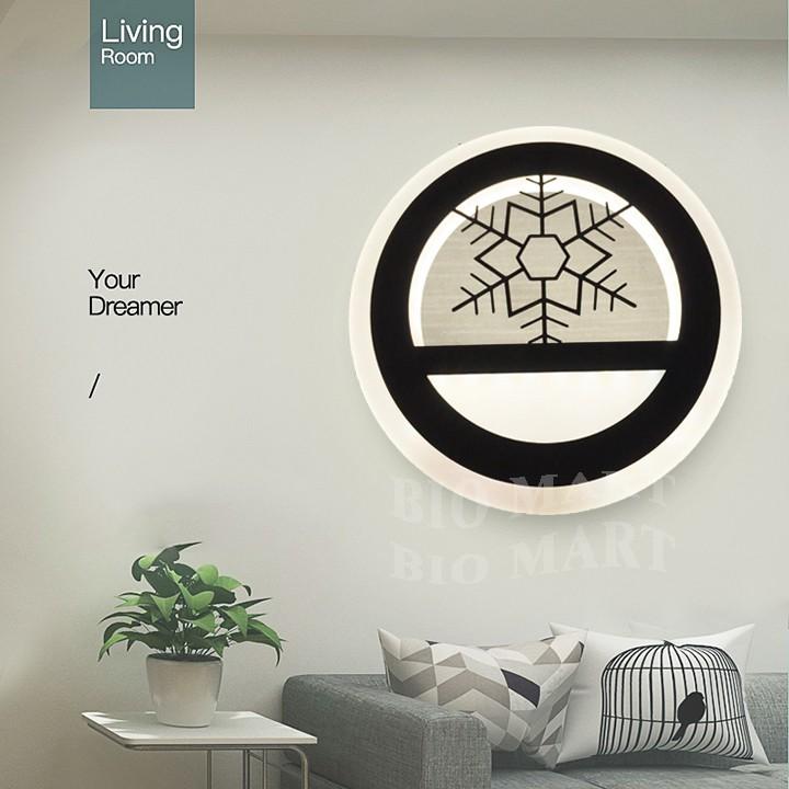 Đèn Tranh Trang Trí Treo Tường – Đèn LED Tròn Gắn Tường – Tranh Đèn Có 3 Chế Độ Ánh Sáng Tiện Dụng – BIO107