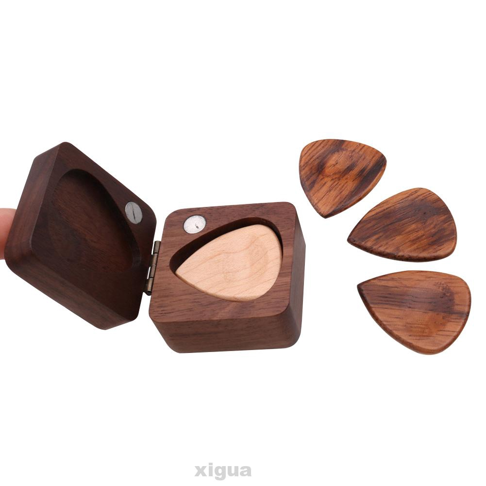 Accessories DIY Gift Heart Shape Portable With Storage Box Guitar Pick